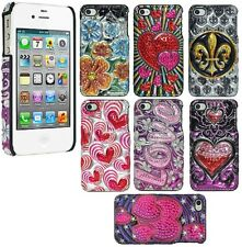 AMZER 3D Metallic Snap On Shell Hard Case Designer Back Cover For iPhone 4 4S