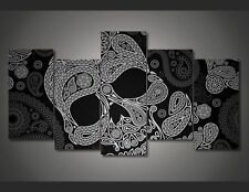 HD Printed 5 Pieces Mexican Skull Painting Canvas Wall Art Home Decor