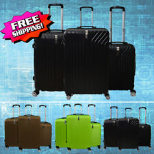 3 PCS Luggage ABS Spinner Set Travel Bag Trolley Wheels Hard Suitcase Coded Lock