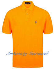 Ralph Lauren Mens Classic Fit Short Sleeve Polo Shirt Neon Orange M - XL RRP £75