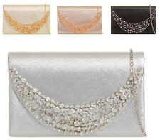 Womens Faux Leather Envelope Fold Over Prom Party Purse Handbag Clutch Bags