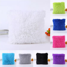Soft Plush Square Throw Pillow Cases Cushion Cover Home Sofa Bed Car Decoration