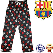 Mens Barcelona Lounge Bottoms Pants Nightwear Trousers Pyjamas Pjs Football Gift