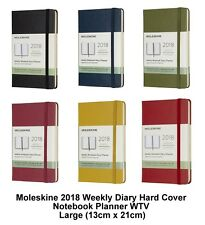 Moleskine 2018 Diary Weekly Planner Hard Cover Notebook WTV (Large 13cm x 21cm)