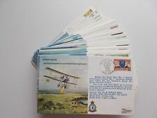 RAF B Series Bomber Command Flown Covers. Some signed. Each sold separately.