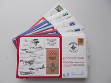 RAF Flown Covers. DM Medals Series, all signed. Each sold separately.