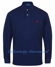 Ralph Lauren Men's Classic Fit Long Sleeve Polo Navy S - XXL RRP £85 SALE SALE