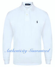 Ralph Lauren Men's Classic Fit Long Sleeve Polo Navy Black White Grey RRP £85