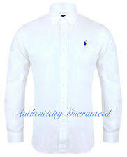Ralph Lauren Men's Custom Fit Long Sleeve Poplin Shirt White S - XXL RRP £100