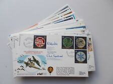 RAF Flown First Day Covers. RFDC Series No. 76 to 100 signed. Sold separately.