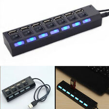 4/7-Port USB 2.0/USB 3.0 Hub With High Speed Adapter ON/OFF Switch For Laptop PC