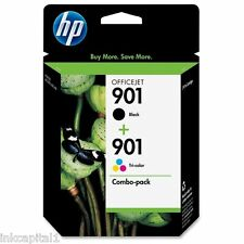 HP NO 901 Black & COLOR ORIGINAL OEM CARTUCHO DE TINTA CC653AE CC656AE Officejet