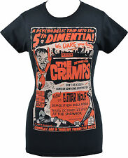 LADIES BLACK T-SHIRT THE CRAMPS GIG PSYCHOBILLY GARAGE HORROR PUNK LUX S -2XL