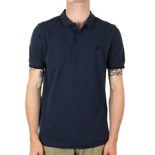 X Fred Perry Twin Tipped Polo Shirt - Deep Night