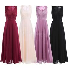 Women Formal Long Evening Party Prom Cocktail Wedding Bridesmaid Dress Ball Gown