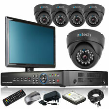 5 x Sony CCD Camera HD-MI 8 Channel DVR CCTV Kit Home & Business with Monitor 3G