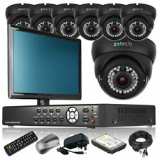 7 x Varifocal Camera Full HD 8 Channel DVR CCTV System Cloud P2P with Monitor 3G