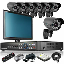 7 x Enhanced IR Camera HD-MI 8 Channel DVR CCTV Kit Live Viewing with Monitor 3G