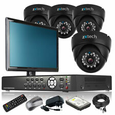 4 x LED IR Camera HD-MI 8 Channel DVR CCTV Package All Inclusive with Monitor 3G