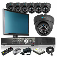 7 x LED IR Camera HD-MI 8 Channel DVR CCTV Package Motion Detection with Monitor
