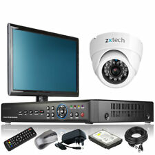 1 x Colour Camera HD-MI 4 Channel DVR CCTV Package Motion Detection with Monitor