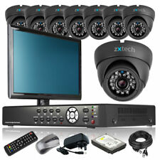 8 x Professional Camera Full D1 8 Channel DVR CCTV Kit Plug Play with Monitor 3G
