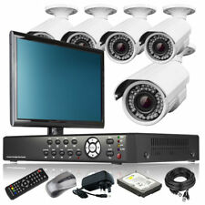 5 x 2.8-12mm Camera Full D1 8 Channel DVR CCTV Kit Complete Pack with Monitor 3G