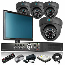 4 x Sony CCD Camera HD-MI 4 Channel DVR CCTV System Live Viewing with Monitor 3G