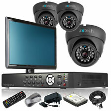 3 x Day Night Camera Full 960H 4 Channel DVR CCTV Kit Complete Pack with Monitor
