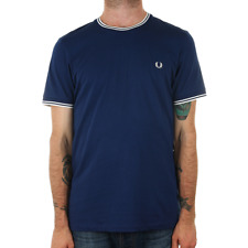 X Fred Perry Twin Tipped T Shirt - Medieval Blue