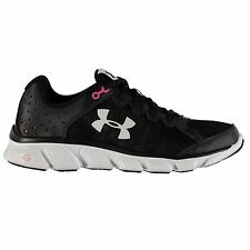 Under Armour Micro G Assert 6 Running Shoes Womens Black/Red Trainers Sneakers