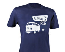 Official VW Camper Van T1 Mens Blue T-Shirt - The Ultimate Ride