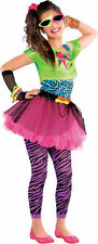SALE! Teen 80s Totally Awesome Girls Fancy Dress Costume Party Outfit Age 10-14