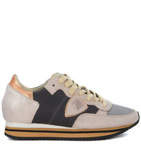 Sneaker Philippe Model Tropez Higher in pelle nera e suede laminato ro