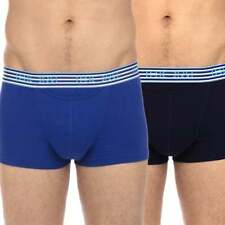 "HOM HO1 Boxerlines Boxer Brief 2-Pack, H01 Horizontal Fly, ""Skyline"" Blue / Navy"