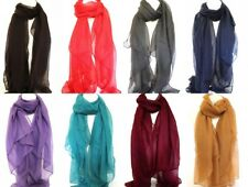 Plain Large Maxi Scarf Scarves Stole Sarong Shawl Hijab Head Scarves