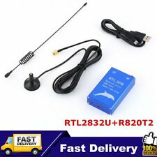 RTL.SDR USB Tuner Receiver RTL2832U+R820T2 100KHz-1.7GHz UHF UV HF AM FM LOT PM