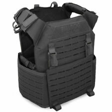 Bulldog Kinetic Military Army Tactical Police MOLLE Armour Plate Carrier Black