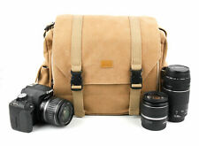 SLR / Action Camera Tan Brown Satchel Bag - Canon/Nikon/Sony/Olympus/GoPro