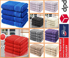 Luxury 4Pcs Bath Sheet Towel Bale Set 100% Cotton Super Absorbent Laura Secret