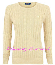 Ralph Lauren Women's Ladies Cable Knit Crew Neck Jumper Oatmeal S - XL RRP £110
