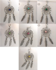 Birthstone Crystal Dreamcatcher Clip on Dream Catcher with feather charms