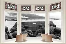 Huge 3D Balcony Army Helicopter Wall Stickers Mural Film Wallpaper S60