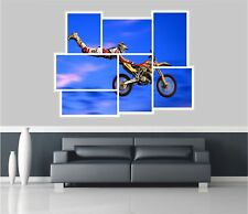 Huge Collage View Scrambling Mx Motor Cross Wall Stickers Decal 296