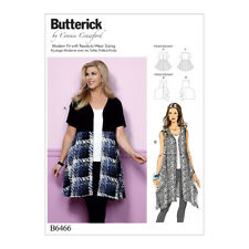 Butterick Sewing Pattern Misses Open-Front, Flared Tunics | B6466