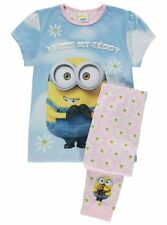 Girls Despicable Me Minions Pyjamas Bob I Love My Teddy PJS Age's 6-9 Years NEW