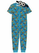 Boys Sleepsuit Despicable Me Minions Cotton Pyjamas PJS Age 6-8 Years NEW