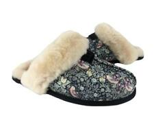 RARE New NIB Ugg Scuffette Liberty Sheepskin Slippers Black Pink Ivory Floral