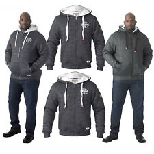 31c5bb62c06 Duke D555 Mens Big Tall King Size Fur Lined Twisted Hooded Fleece Sweat  Jacket