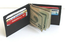 MENS GENUINE LEATHER MONEY CLIP Front Pocket Bifold Credit Card Premium Wallet